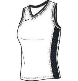 Майка баскетбольная Nike GOLD WOMEN TANK 119802-100 - фото 10086