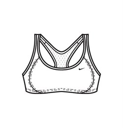 Белье Nike Determination Women's Sports Bra 144696-100 - фото 7628