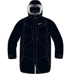 Куртка зимняя Nike Mens Down Snorkel Jacket 215469-010 - фото 7655