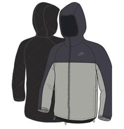 Куртка демисезонная Nike PADDET REVERSIBLE JACKET 266002-016 - фото 7709