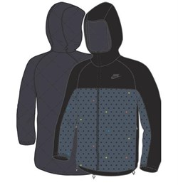 Куртка демисезонная Nike PADDET REVERSIBLE JACKET 266002-063 - фото 7710