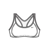 Белье Nike Determination Women's Sports Bra 144696-100