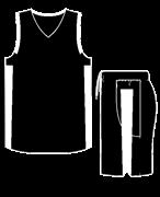 Комплект баскетбольный (майка+шорты) Ronix 607-9001